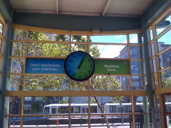 WebEx Caltrain Clock