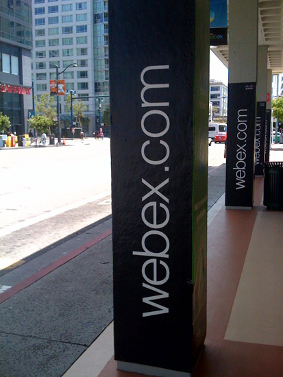 WebEx Caltrain Pillars Outside