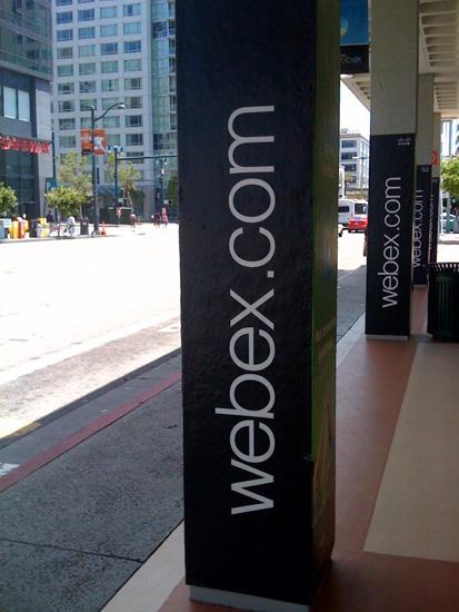 WebEx Caltrain Pillars Outside