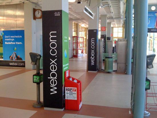 WebEx Caltrain Pillars