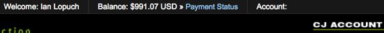 CJ Account Balance