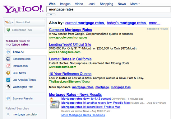 Google Advertising On Yahoo