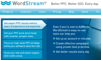 WordStream Internet Marketing Software