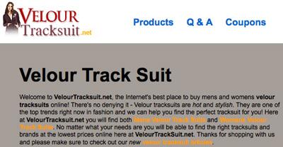 Velour Tracksuit
