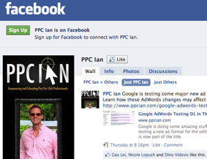 PPC Ian Facebook Fan Page