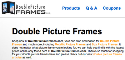 Double Picture Frames