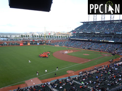 View From Google Giants Luxury Suite