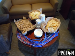Snacks at Google Giants Luxury Suite