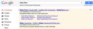 Six Google Sitelinks