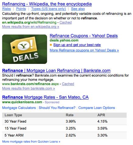 Yahoo Organic Results