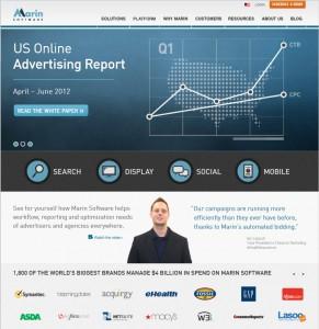 Marin Software Homepage