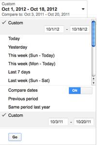 Google AdWords Compare Dates
