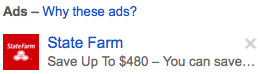 Gmail Message Ad