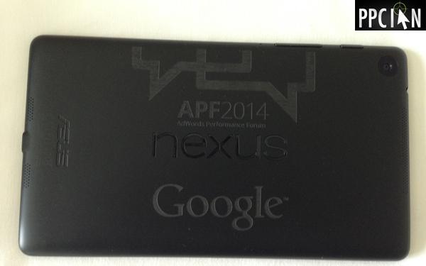 AdWords Performance Forum 2014 Tablet