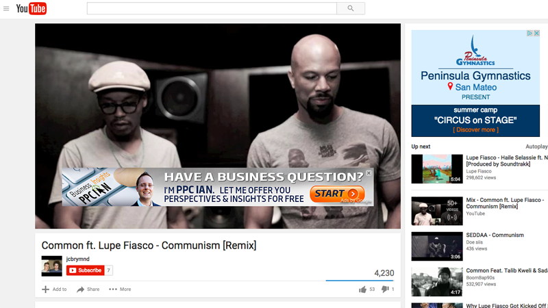 PPC Ian Common Lupe Fiasco Retargeting