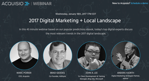 Acquisio 2017 Webinar